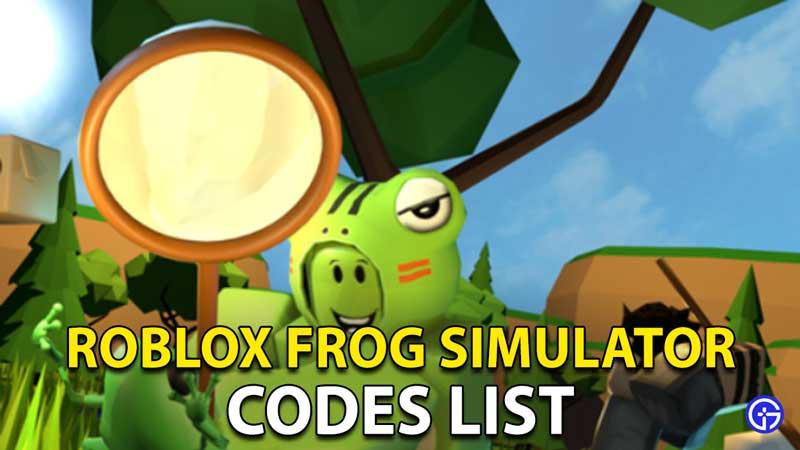 Frog Simulator Codes Roblox