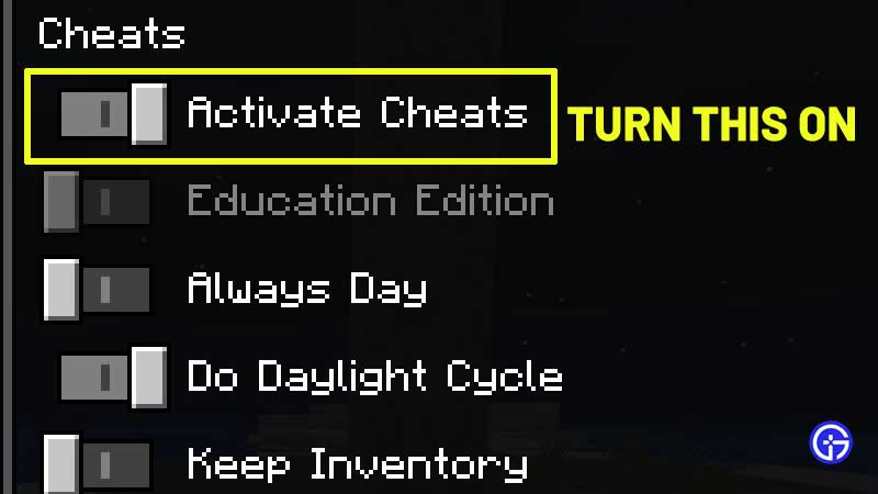 how to activate cheats minecraft