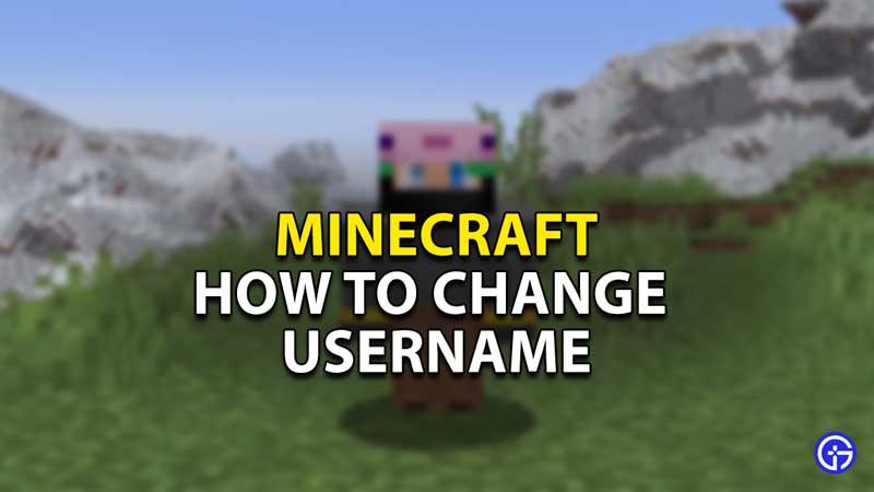 how to change username minecraft