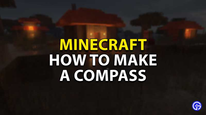 how to make a compass minecraft