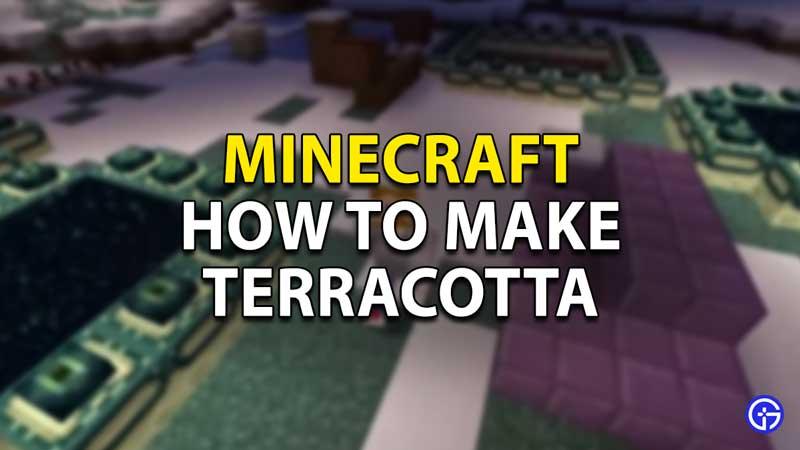 how to make terracotta minecraft