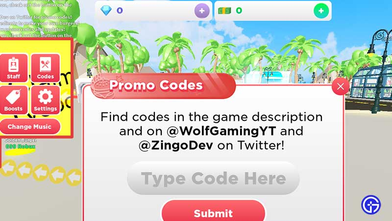 How to Redeem Codes in Roblox Burger Tycoon