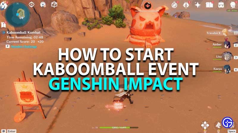 how to start kaboomball kombat event in genshin impact