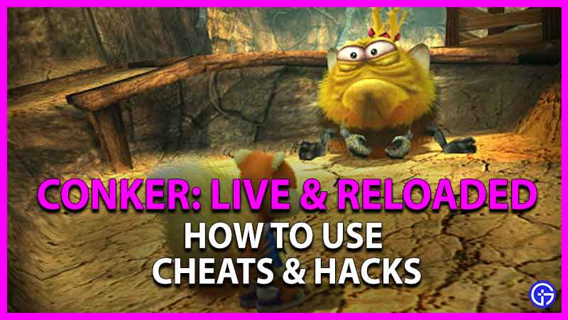 how to use cheats in conker live reloaded