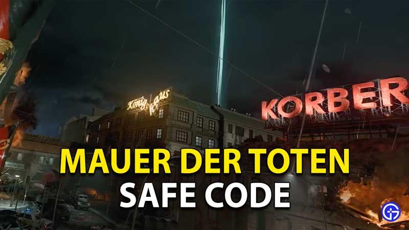 Mauer Der Toten Safe Code COD Cold War