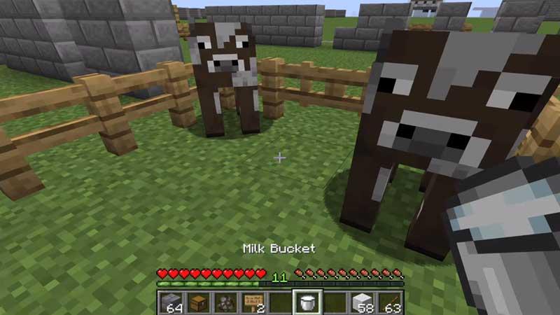 milk bucket minecraft