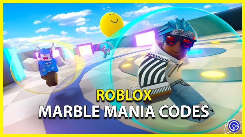 roblox marble mania codes