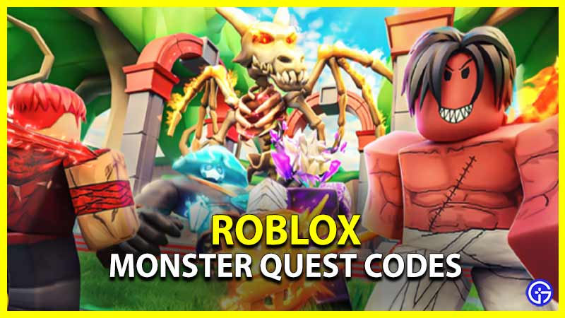 roblox monster quest codes
