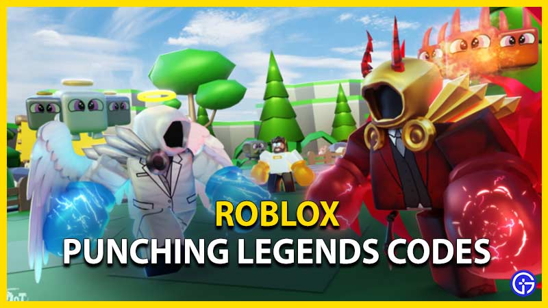 roblox punching legends codes