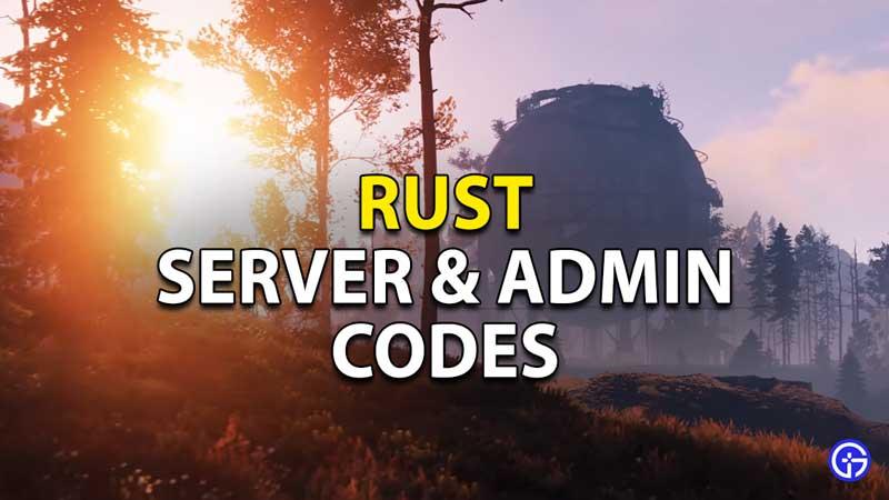 server admin commands rust