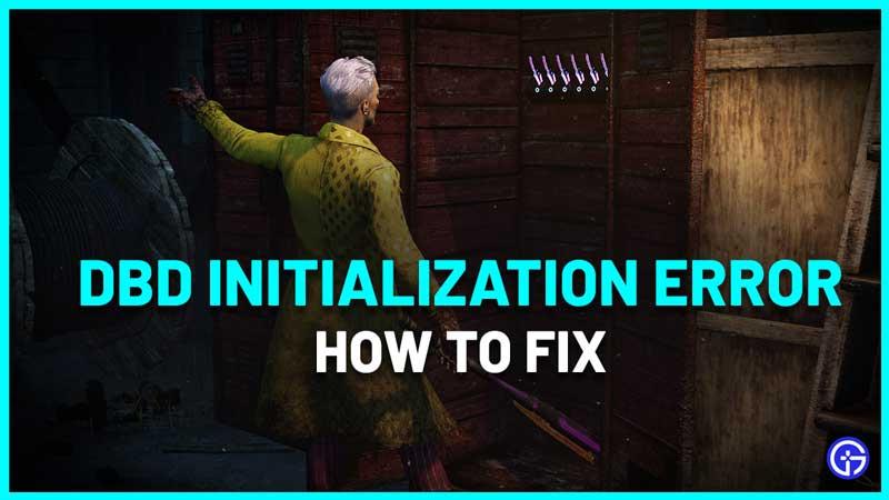 DBD Initialization Error Fix