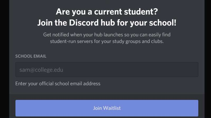 discord school hubs feature