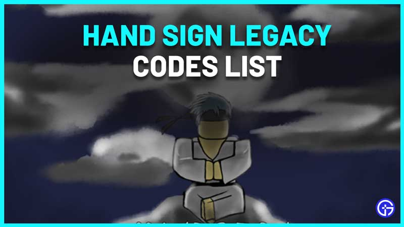 Hand Sign Legacy Codes Roblox