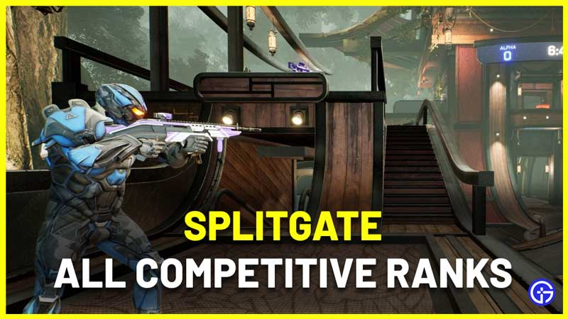 All Splitgate Competitive Ranks