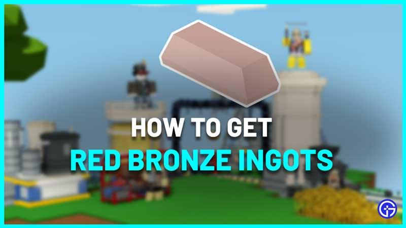 How To Get Red Bronze Ingots In Roblox Islands