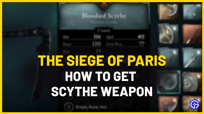 How To Get The Scythe Location In AC Valhalla Siege Of Paris
