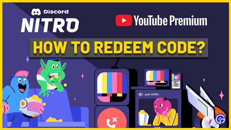 How To Redeem Discord Nitro Youtube Premium Code