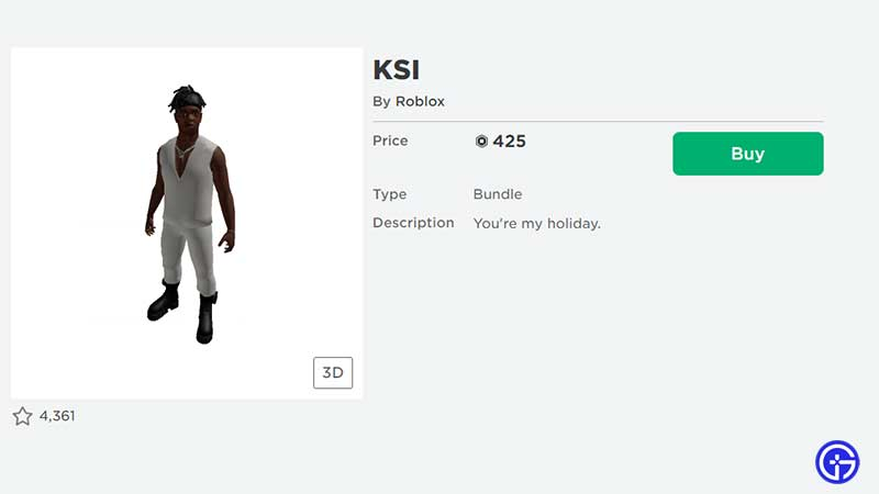 how to get roblox ksi avatar items for free