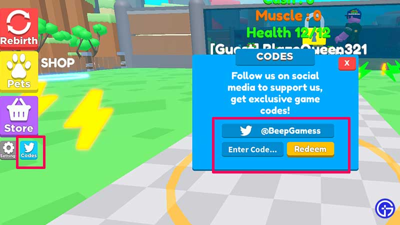 How to Redeem Codes in Muscle Magnet Simulator