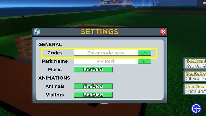 How to Redeem Codes in Roblox Zoo Tycoon 2