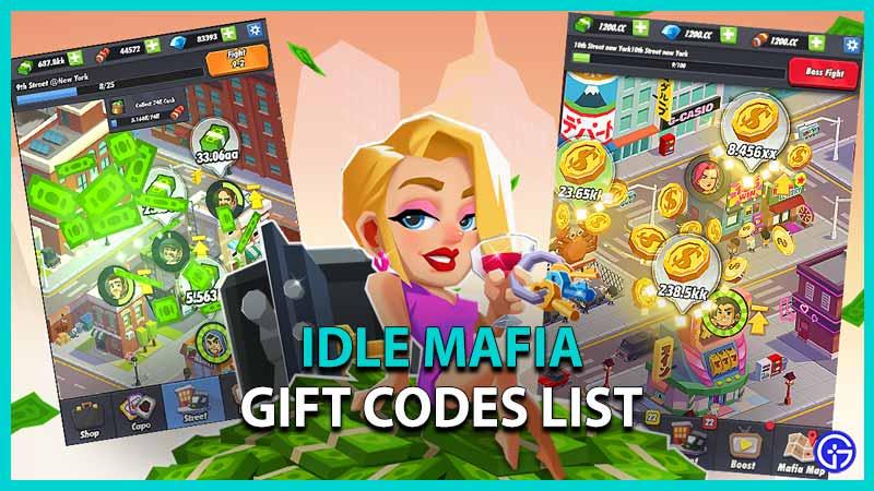 Idle Mafia Gift Codes