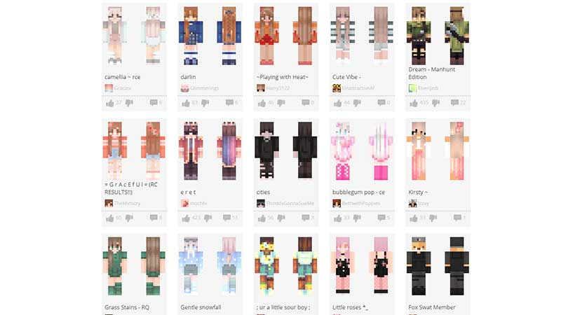 is the skindex safe to use for minecraft skins