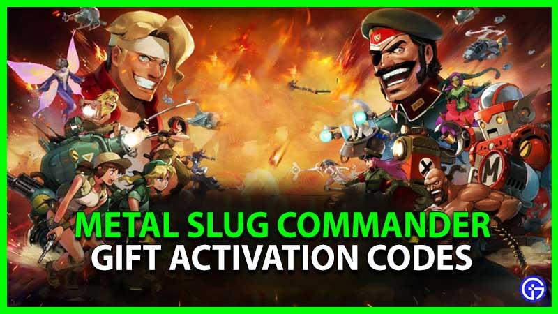 Metal Slug Commander Code Gift Activation Codes