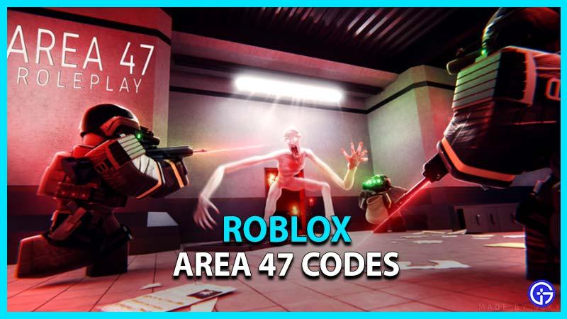 Roblox Area 47 Codes