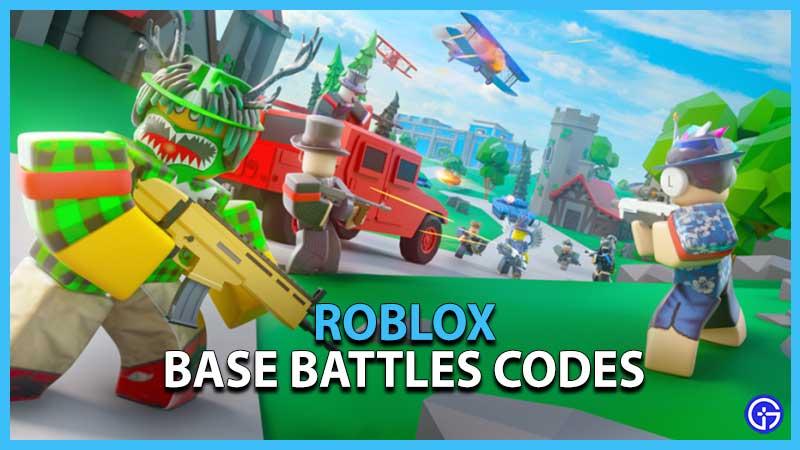 Roblox Base Battles Codes