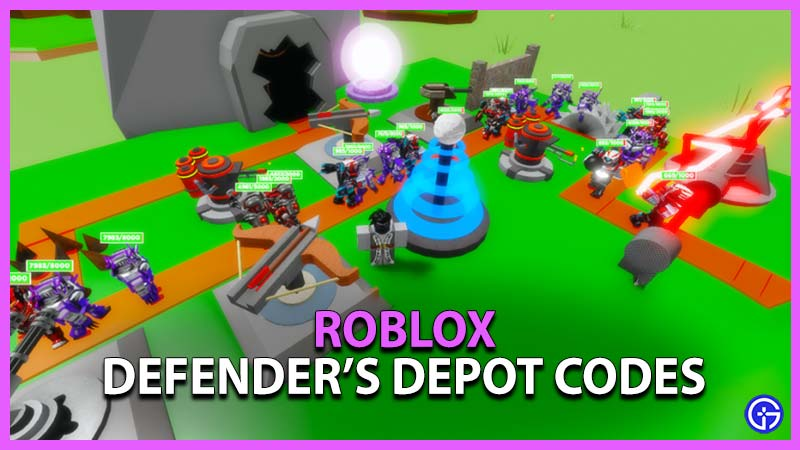 Roblox Defender's Depot Codes