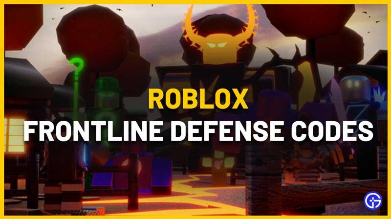 Roblox Frontline Defense Codes