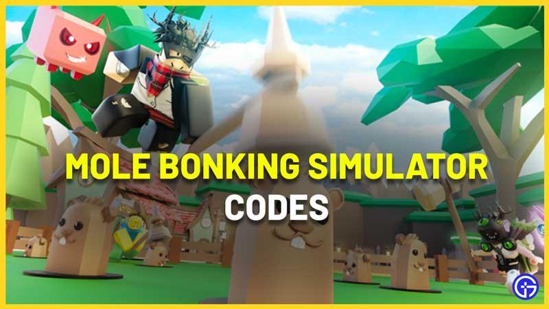 Roblox Mole Bonking Simulator Codes