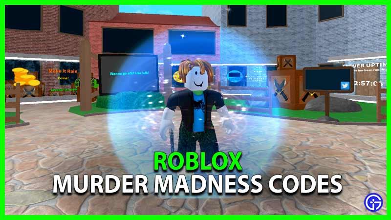 Roblox Murder Madness Codes