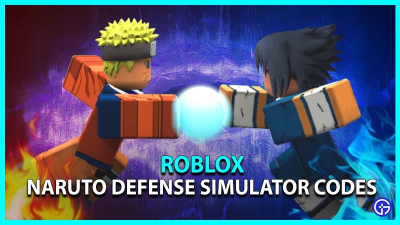 Roblox Naruto Defense Simulator Codes