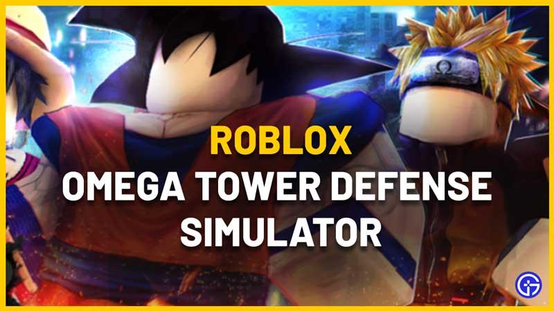 Roblox Omega Tower Defense Simulator Codes