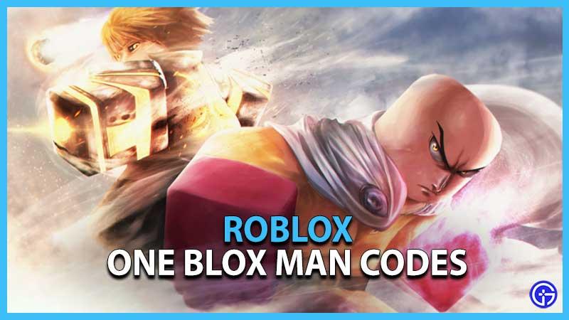 Roblox One Blox Man Codes