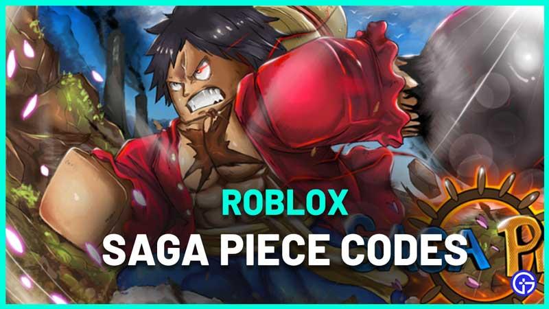Roblox Saga Piece Codes
