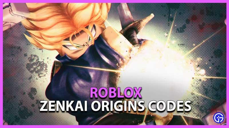 Roblox Zenkai Origins Codes