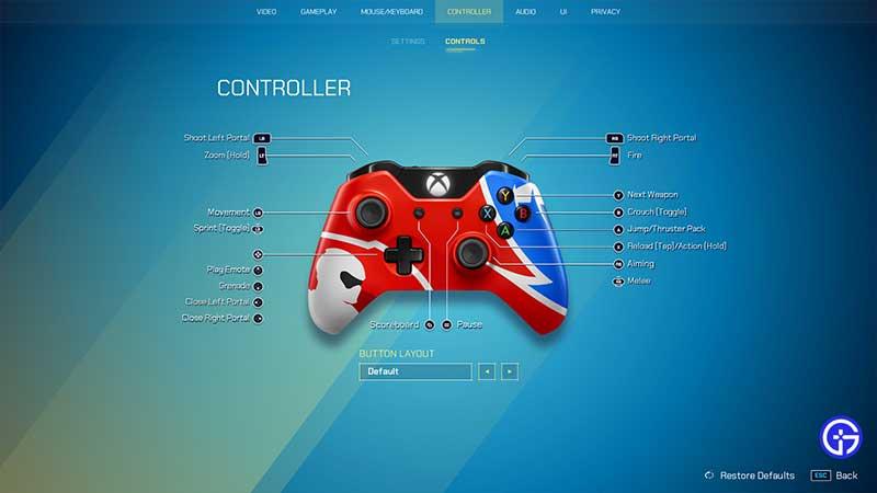splitgate controls xbox playstation controller