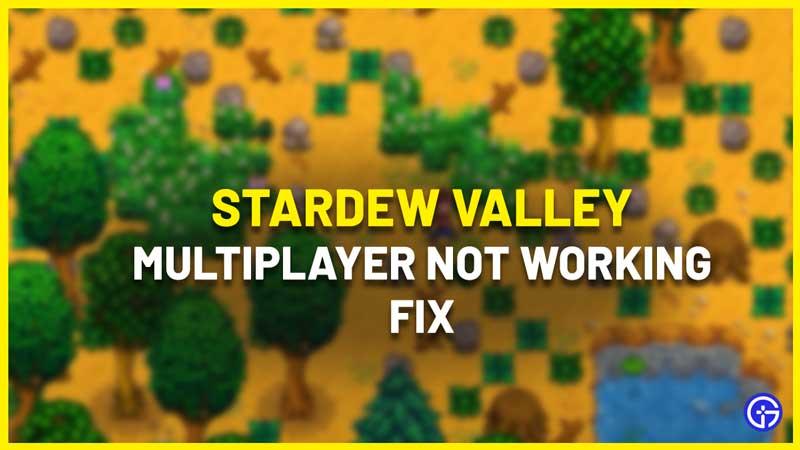 Stardew Valley Multiplayer Not Working Fix