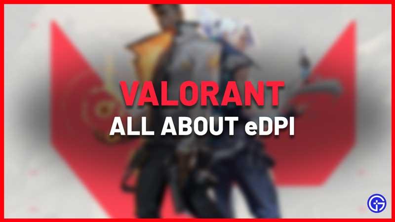 Valorant eDPI calculator