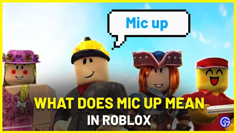 What Does Mic Up Mean In Roblox