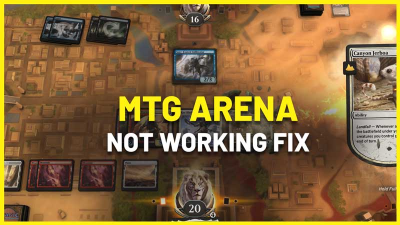 Why Is MTG Arena Not Working fix