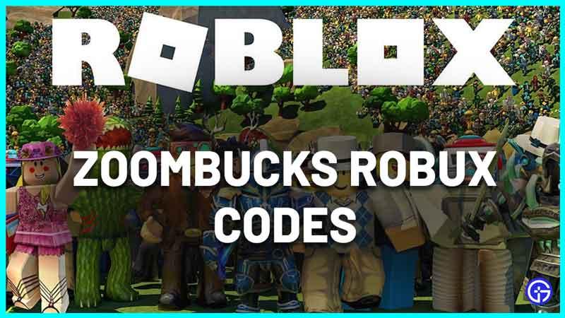 Zoombucks Robux Codes