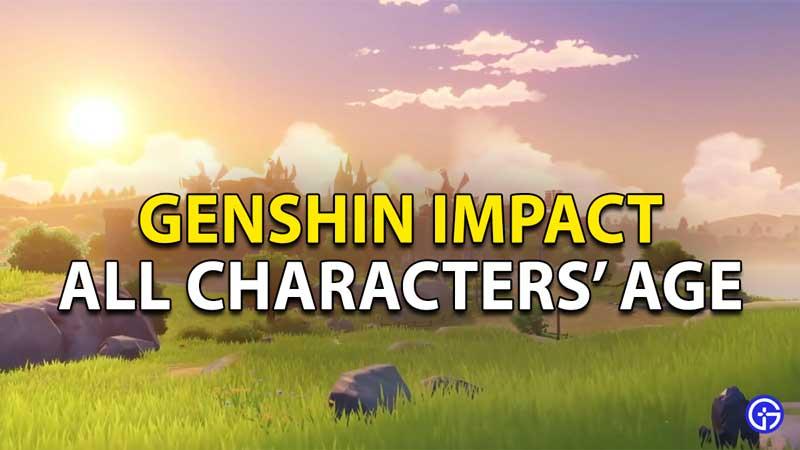 characters age genshin impact