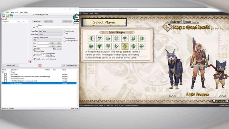 cheats for monster hunter rise demo for ryujinx