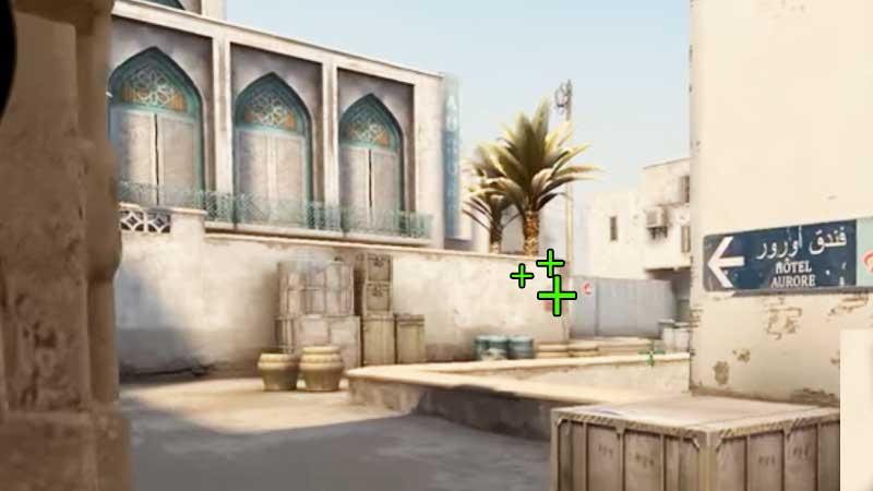 CSGO Dust A-Base Grenade Spot