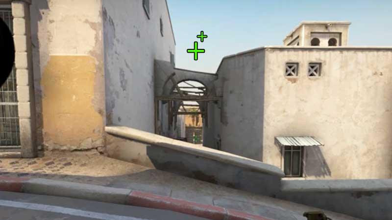 CSGO Dust 2 T-Spawn Grenade Spot