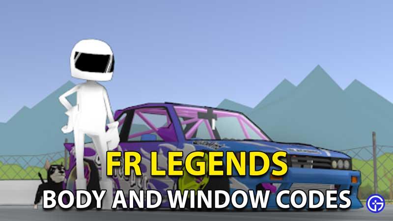FR Legends Livery Codes