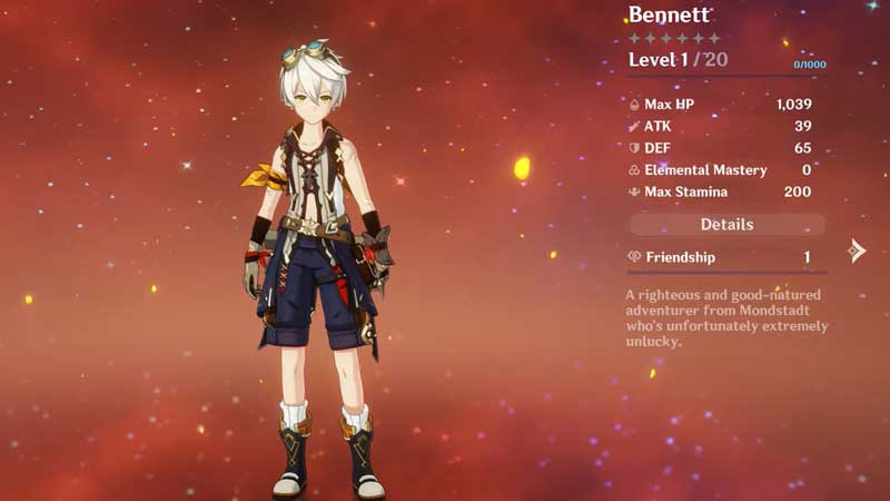 Bennett Build Genshin Impact: Best Weapons And Artifacts To Use
